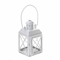 Railroad Candle Lantern, White 10015852