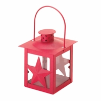 Red Star Candle Lantern 10015994