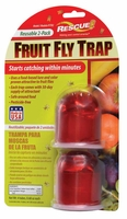(2 PACK) Rescue - Reusable Fruit Fly Trap FFTR2