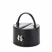 Round Black Jewelry Box 10015414