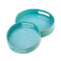 Round Crocodile Nesting Tray Set 15204
