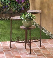 Rustic Triple Planter Stand D1091