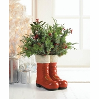 Santa's Boots Decorative Vase 10017833