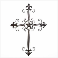 Scroll Star Wall Cross 14576