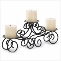 Scroll Triple Candleholder 14198