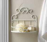 Scrolled Wall Shelf, White 10015801