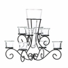 Scrollwork Candle Stand with Vase 10015370