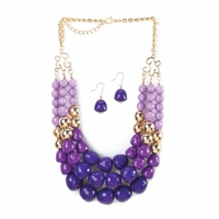 Shades of Purple Jewelry Set 10016111