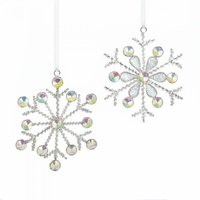 Silvery Snowflake Ornament Set 10017592
