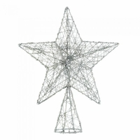 Silvery Sparkle Wire Tree Topper 10017590