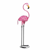 Single Flamingo Metal Art 14944