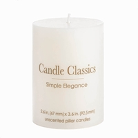Single Unscented Pillar Candle 10016770