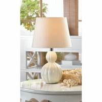 Small Table Lamp, White Ceramic 10016958