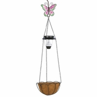 Solar Butterfly Hanging Basket 14631