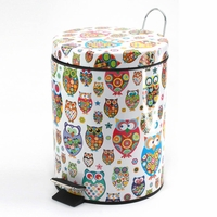 Step Trash Can, Owl Print 10015893