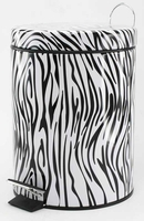 Step Trash Can, Zebra Print 10015892