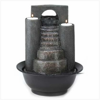 Stone Steps Fountain with Tealights 12302
