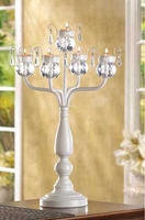 Table Candelabra with Teardrops 14128