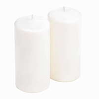 Tall White Unscented Pillar Candles, Set of 2 10016771