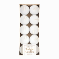 Tealight Candle Set, White 10016508