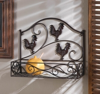 Three Roosters Wall Basket 10015847