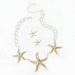 Two-tone Starfish Jewelry Set 10016233