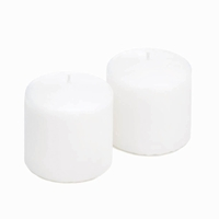 Unscented White Pillar Candle Set 10016767