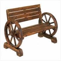 Wagon Wheel Garden Bench 12690