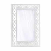White Framed Wall Mirror 15091