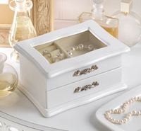 White Jewelry Box with Drawer 10015875