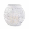 White Lace Ball Candleholder 15274