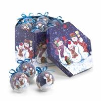 Wintry Night Snowmen Ornament Set, Boxed 10016079