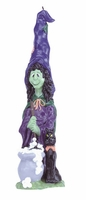 Witch and Cat Candle, 11 3/4 inches 30337