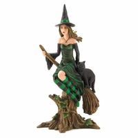 Witch and Cat Figurine 14975