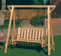 Wooden Bench Swing 35107
