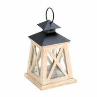 Wooden Railroad Candle Lantern 10015423