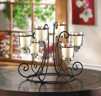 Wrought Iron Candleholder Centerpiece 10015397