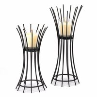 Wrought Iron Rods Candleholder Set 10015842