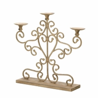 Wrought Iron Scrolled Candelabra 10015540