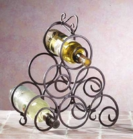 Wrought Iron Wine Rack 32405