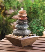 Zen Stacked Stone Table Fountain 15116