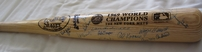 1969 New York Mets World Series Champions team autographed bat (Tommie Agee Cleon Jones Jerry Koosman)