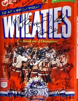 1980 Miracle on Ice USA Olympic Hockey Team autographed Wheaties box matted & framed