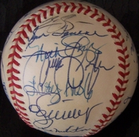 1993 Toronto Blue Jays World Series Champions team autographed baseball (Roberto Alomar Joe Carter Paul Molitor Jack Morris)