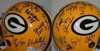 1996 Green Bay Packers Super Bowl 31 Champions Team autographed full size game model helmet (Brett Favre)