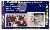 1999 US Women's World Cup Soccer Team autographed poster framed (Brandi Chastain Mia Hamm Kristine Lilly Christie Rampone)