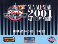 2001 NBA All-Star Saturday Night ticket set & Slam Dunk scoring sign