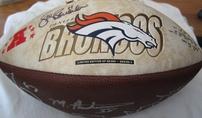 2003 Denver Broncos autographed football (Mike Anderson Steve Beuerlein Ashley Lelie Ed McCaffrey Rod Smith)