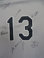 2005 New York Yankees team autographed jersey Jorge Posada Mariano Rivera Alex Rodriguez Joe Torre