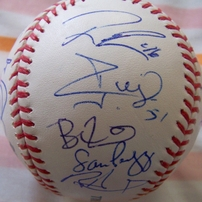2009 Philadelphia Phillies team autographed baseball Cole Hamels Ryan Howard Cliff Lee Jimmy Rollins Chase Utley